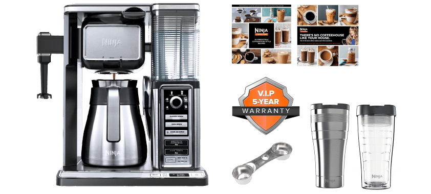 ninja coffee bar premium stainless steel system