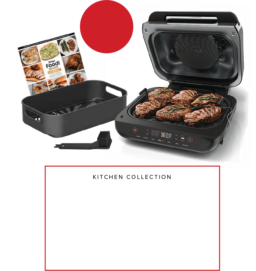 Ninja<sup>®</sup> Foodi™ Smart XL Indoor Grill with Exclusive Kitchen Collection